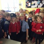Garda visit to Ms. Kinane & Mrs. Harrington's room 5/3/20